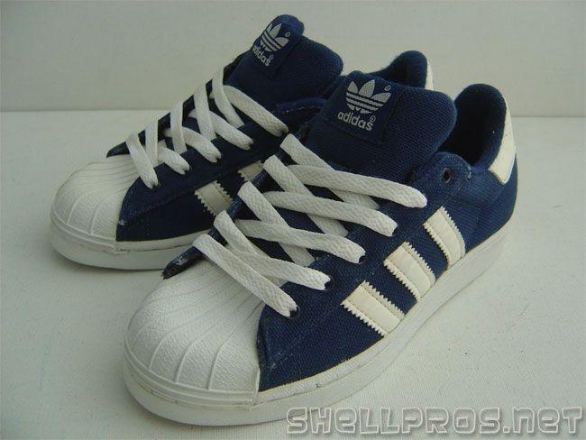 Adidas Superstar II Navy Canvas / White
