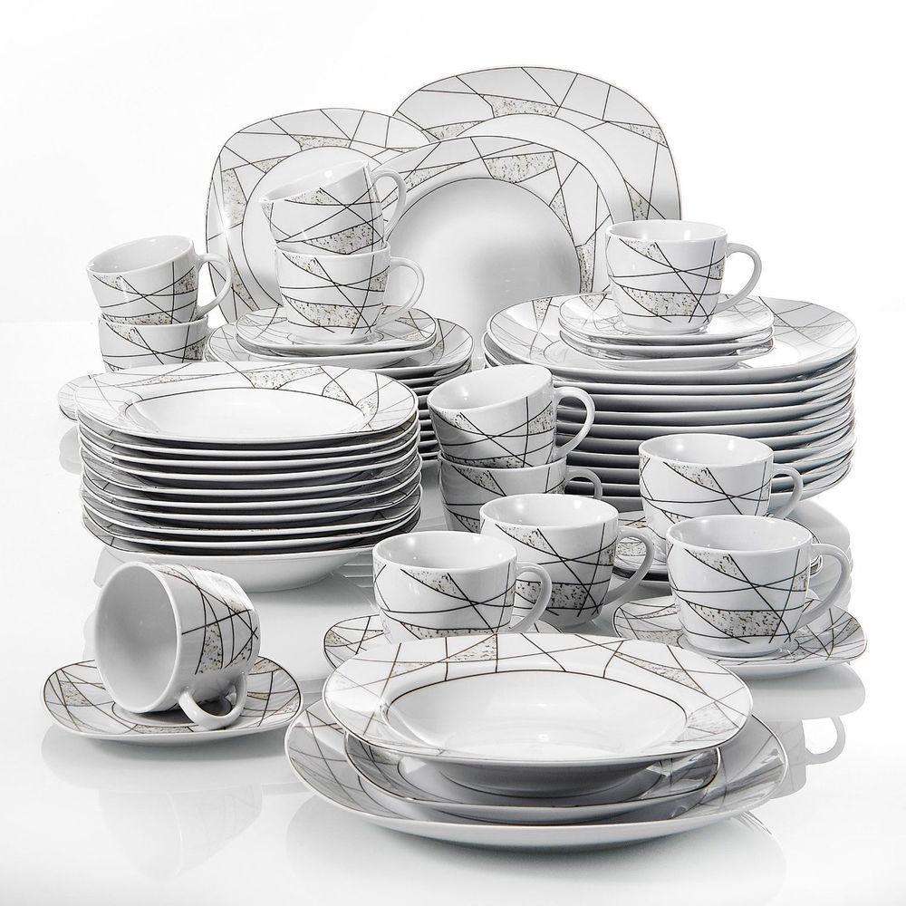 Modern Kitchen Dinnerware Dinner Set Plates Bowls Tableware Dining