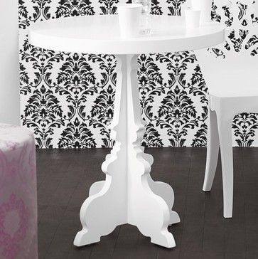 silhouette cafe table in white - brocade home - contemporary - side tables and accent tables - - by Brocade Home