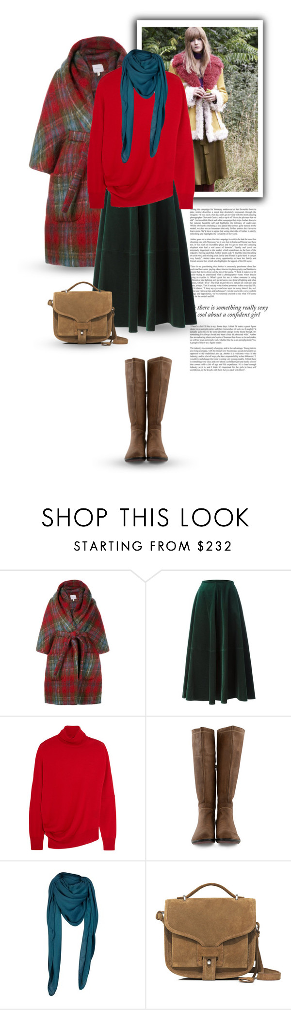 """16.01.2017"" by bliznec-anna ❤ liked on Polyvore featuring Haze, Miu Miu, Delpozo, MM6 Maison Margiela, Balenciaga, Fly LONDON, Comptoir Des Cotonniers and Opening Ceremony"