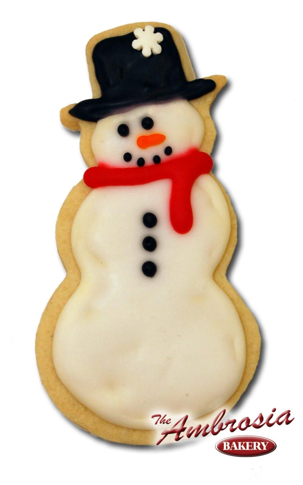 Snowman Cut-Out Cookie - Large | Ambrosia Bakery