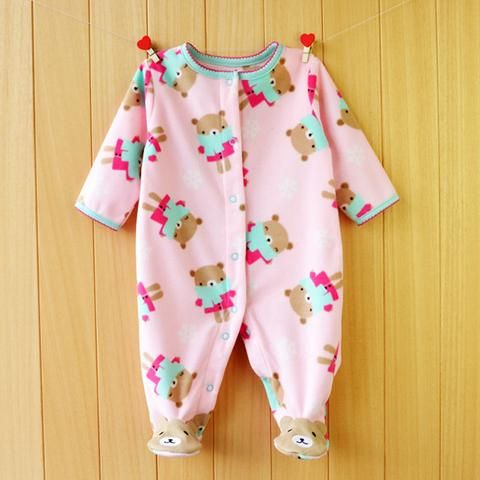 d63027c64cb1 Clearance Sale Polar Fleece Baby Rompers Winter Warm Clothing for Boys  Cartoon Animal Infant Girls Clothes Newborn Baby Jumpsuit