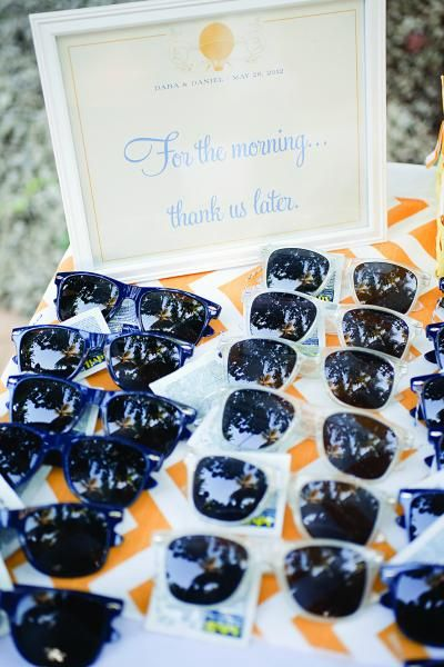 b007e257c82 Sunglasses and headache meds served as post-party relief at this Dominican  Republic wedding. Photo Credit  Captured Photography by Jenny