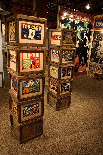 Fruit Crate Art Ideas