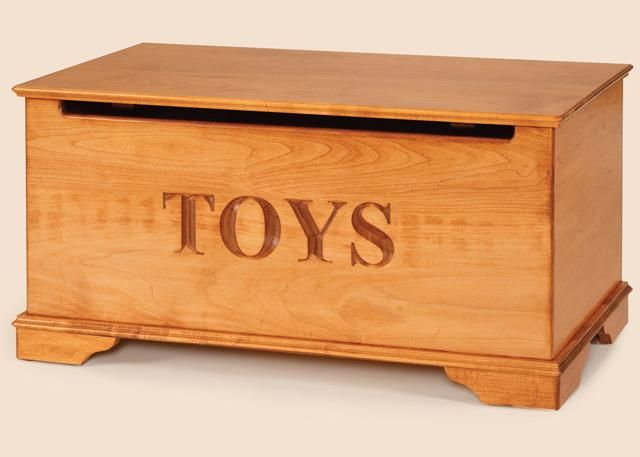 Amish Maple Wood Toy Chest Dutchcrafters Amish Furniture