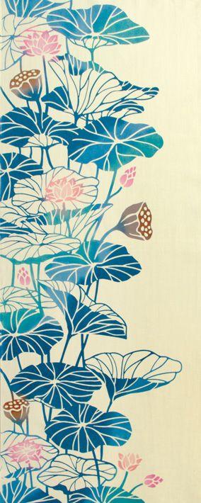 楽天市場 気音間 注染手ぬぐい 草花 ハス 蓮花 はちすばな 日本手拭い てぬぐい わざっか本舗 蓮の花 蓮 イラスト アイデアを描く