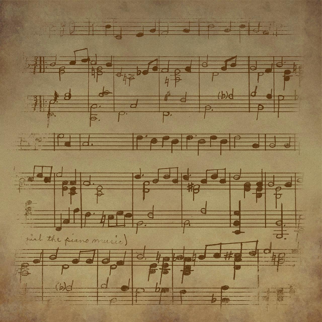 Imagen gratis en Pixabay - Vintage, Hoja, Música, De Fondo