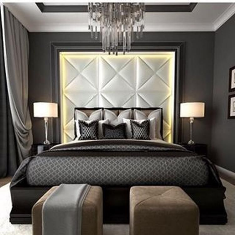 15 Master Bedroom Decorating Ideas And Design Inspiration: 50 Fabulous Black Bedroom Design Ideas