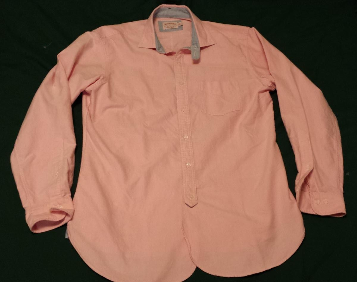Brooks brothers men size m pink cotton casual dress shirt new no