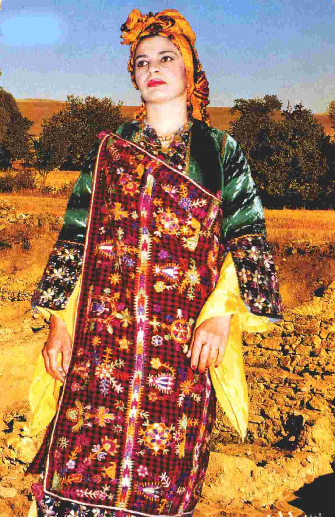 Traditional Festive Costume Of Bakhdida Nothern Iraq