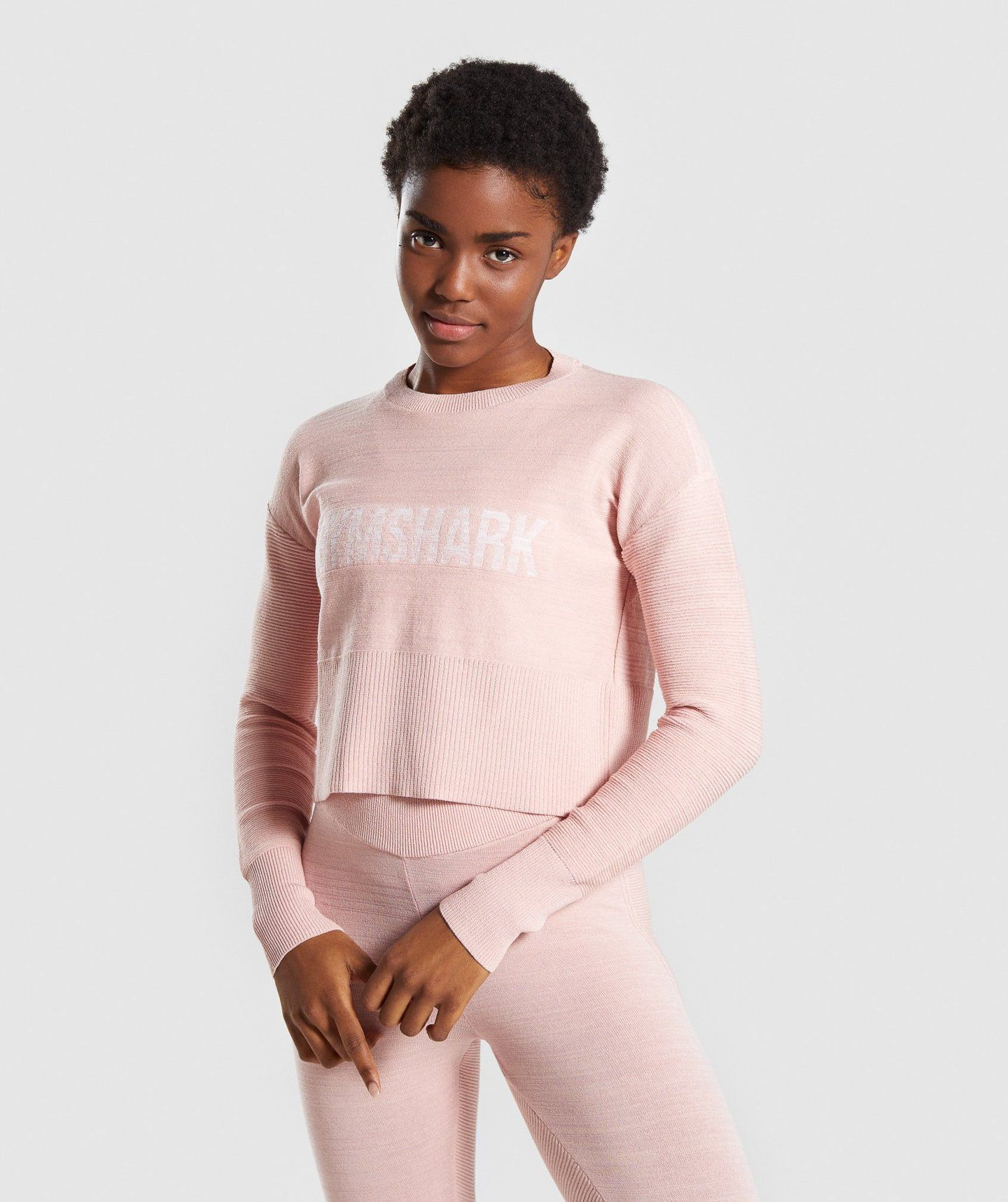 5a0e89e7 Gymshark Time Out Knit Sweater - Blush Nude in 2019 | Seamless | The ...