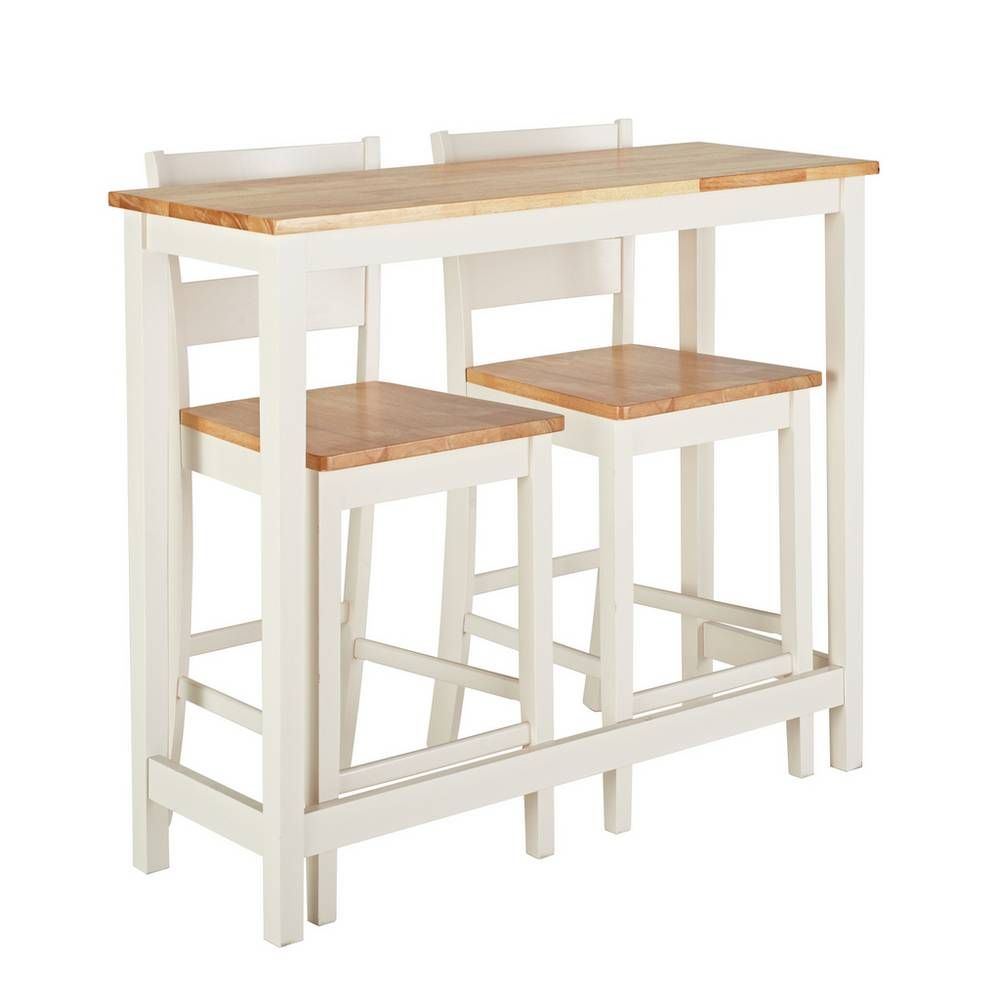 Argos Kitchen Bar Table And Chairs: Buy Argos Home Chicago Solid Wood Bar Table & 2 Two Tone