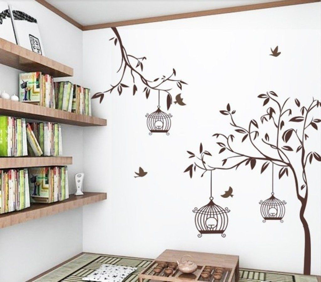 Give Your Walls A Makeover With This Nature Inspired Bird Cage Wall Decal That Is Easy To Apply And Causes Zero Damage 129 It Has 7000 Positive Ratings On In