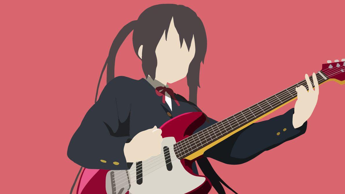 Azusa Nakano Azusa Nakano Minimalist Anime Azusa