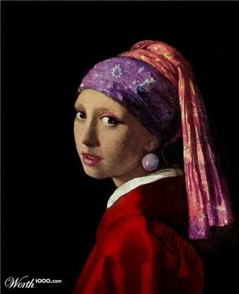 """Girl with a Pearl Earring"" with a twist - from Worth1000"