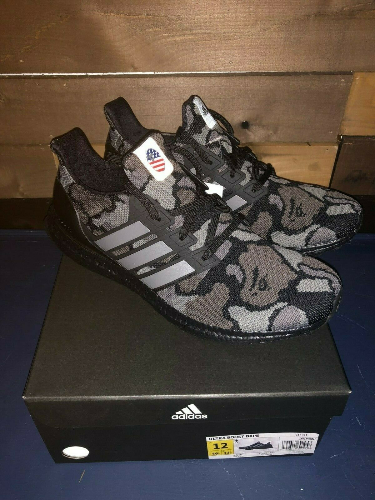 uk cheap sale for whole family buy Details about Adidas Ultra Boost 4.0 Bape Camo Black, Size ...