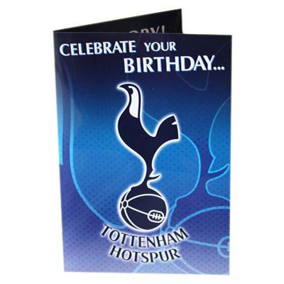 Tottenham Hotspur F C Musical Birthday Card Musical Birthday Card Approx 22 5cm X Musical Birthday Cards Card Making Birthday Birthday Cards For Him
