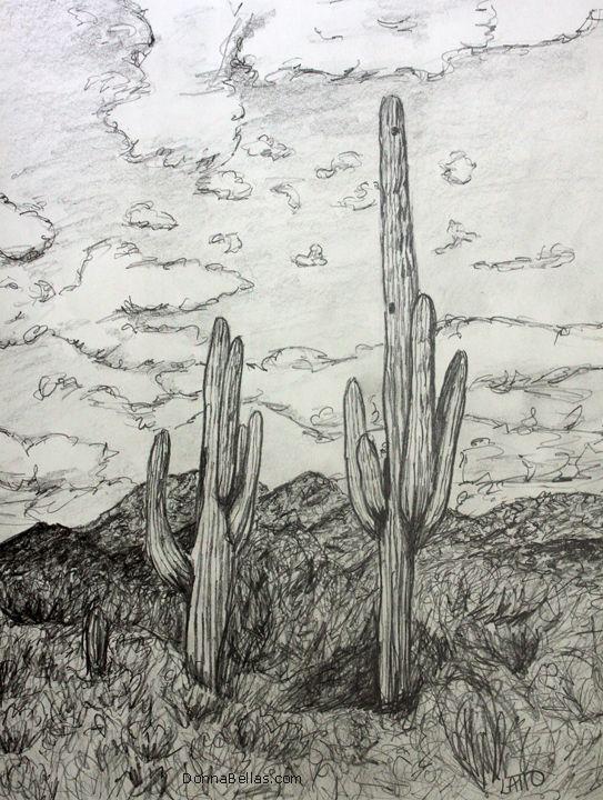 Как нарисовать пустыню карандашом в картинках
