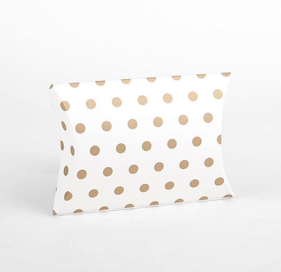 M 3 sets Gold dots gift boxes Pillow boxes by LoveMyTapes on Etsy