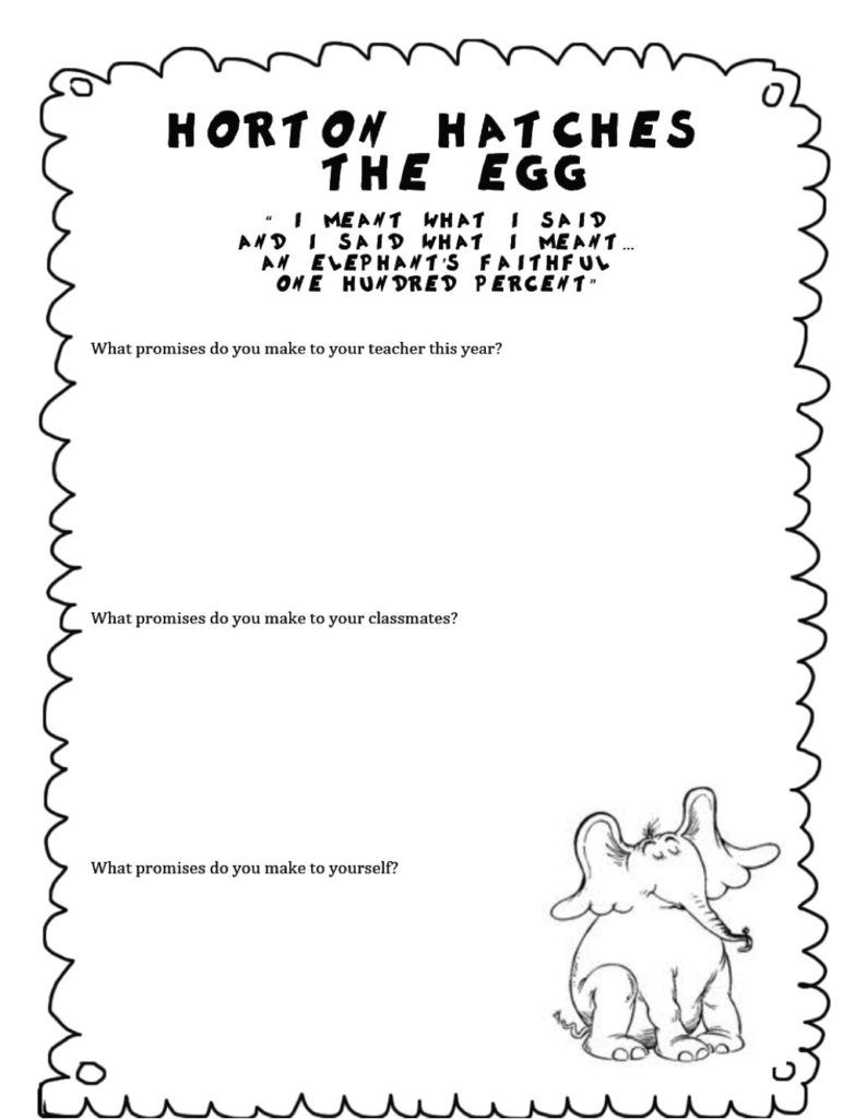 worksheet Horton Hatches The Egg Worksheets horton hatches the egg coloring pages free phonics pinterest pages