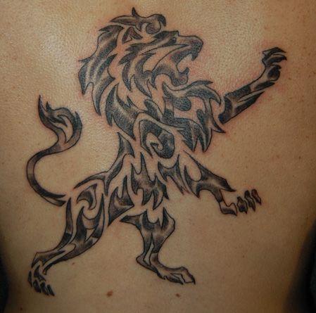 fec0a58b4277f 18 Magnificent Tribal Lion Tattoo | Only Tribal | Tattoos | Tribal ...