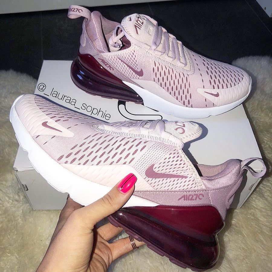 Nike Air Max 270 – Barely Rose / Vintage Wine #shoegame