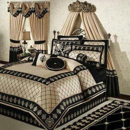 Black And Cream Bed Comforters Bed Linens Luxury Luxury