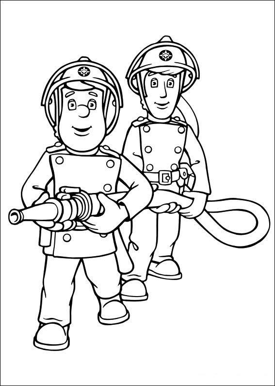 feuerwehrmann sam 13 ausmalbilder für kinder. malvorlagen