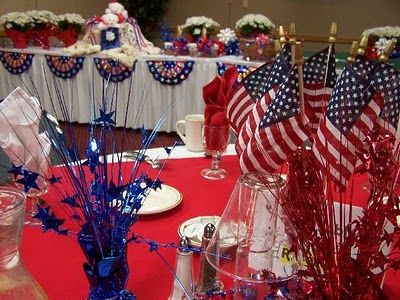 Red White And Blue Party Decor