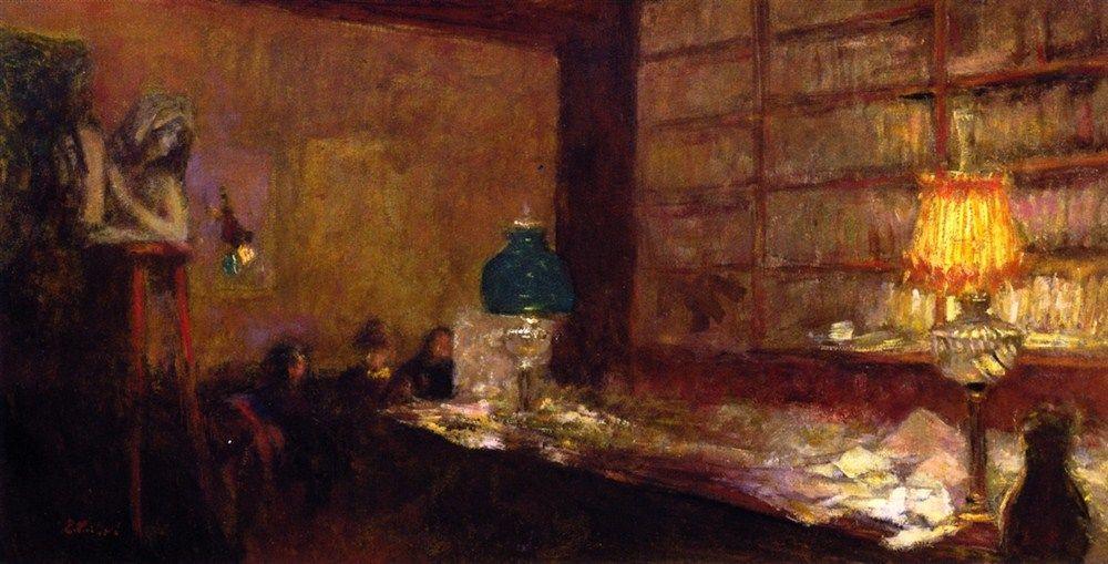 The Green Lamp-c.1898 Edouard Vuillard