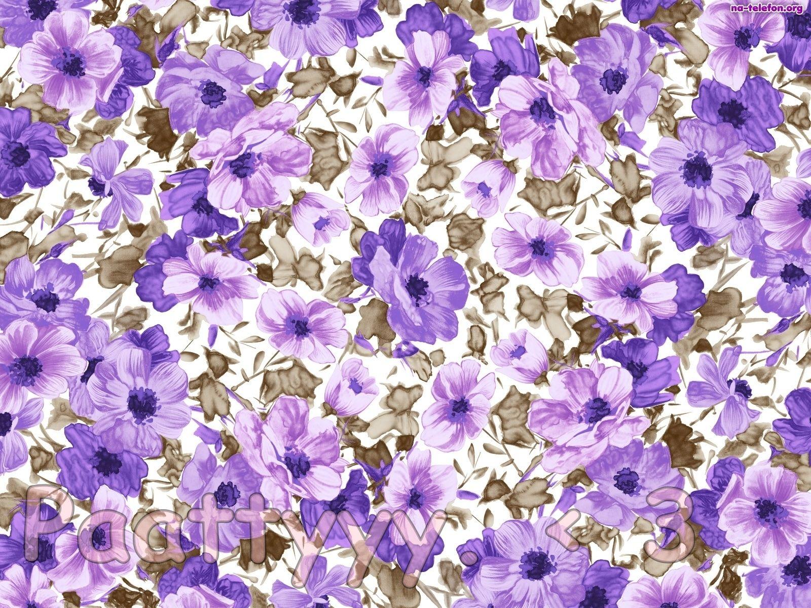 Flower Pattern Flowers Floral Pattern Backgrounds Purple Flower Background Flower Pattern Design Floral Pattern Wallpaper