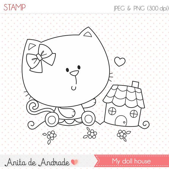 Baby Cats Doll House Stamp