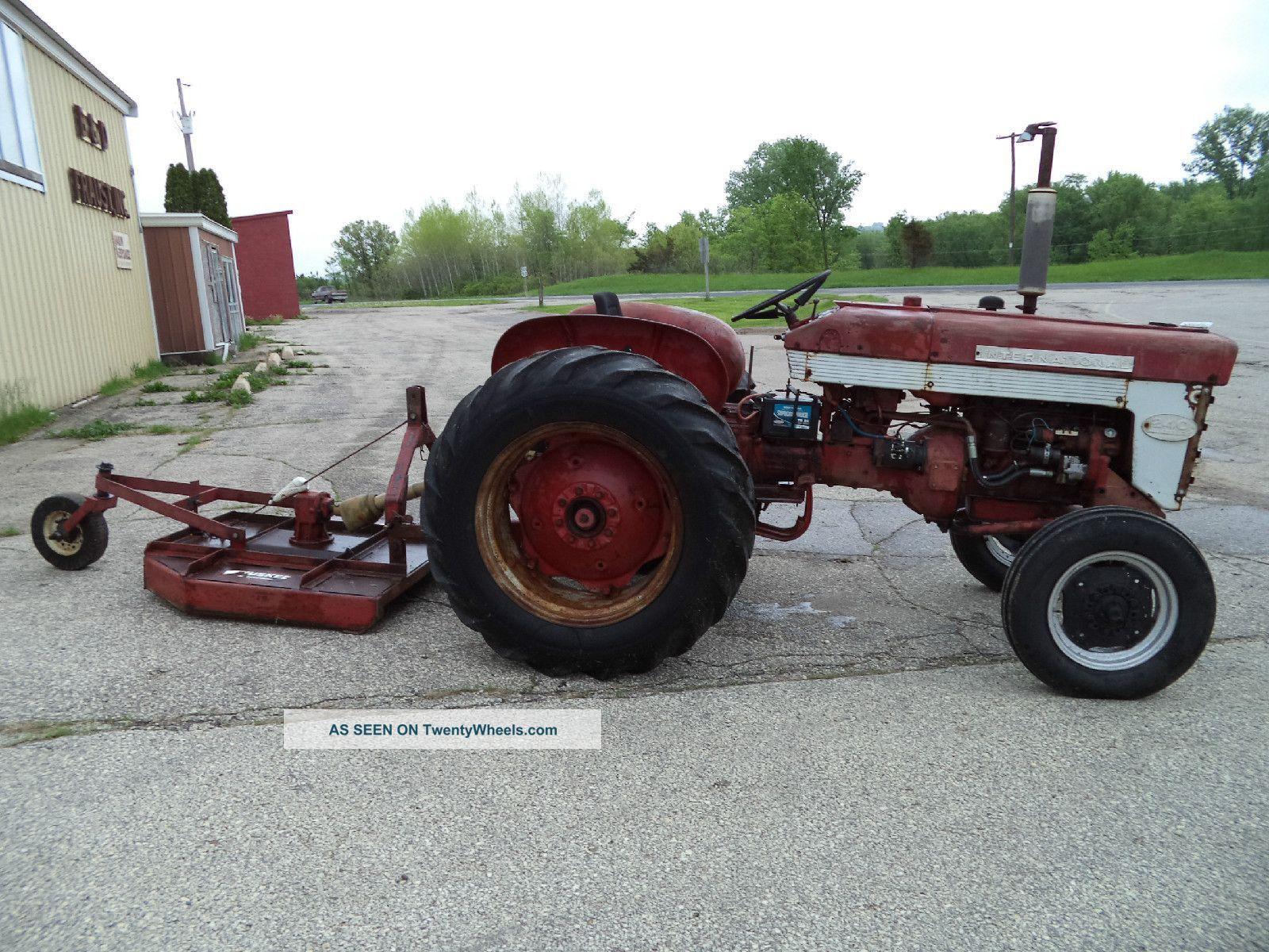1959 ih farmall 240 utility tractor w brush hog