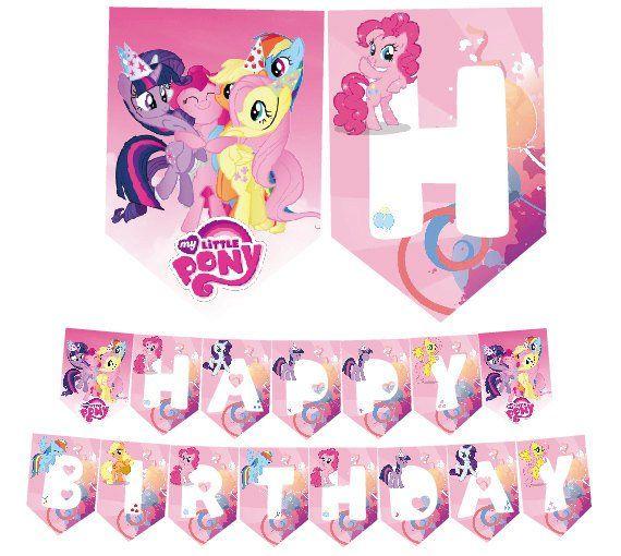 My Little Pony Birthday Printable Banner Banderin Mi Pequeno