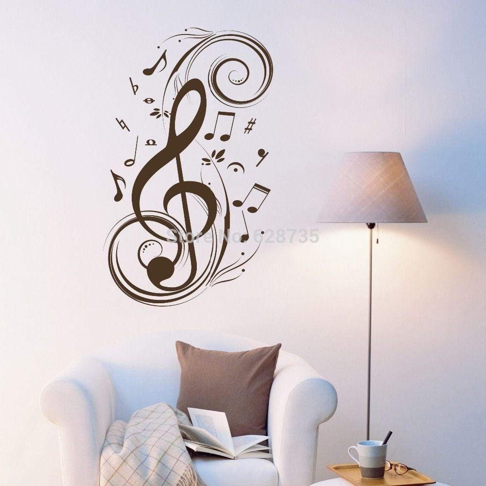 Beat opmerking muziek wall art stickers, Vinyl muurstickers music ...