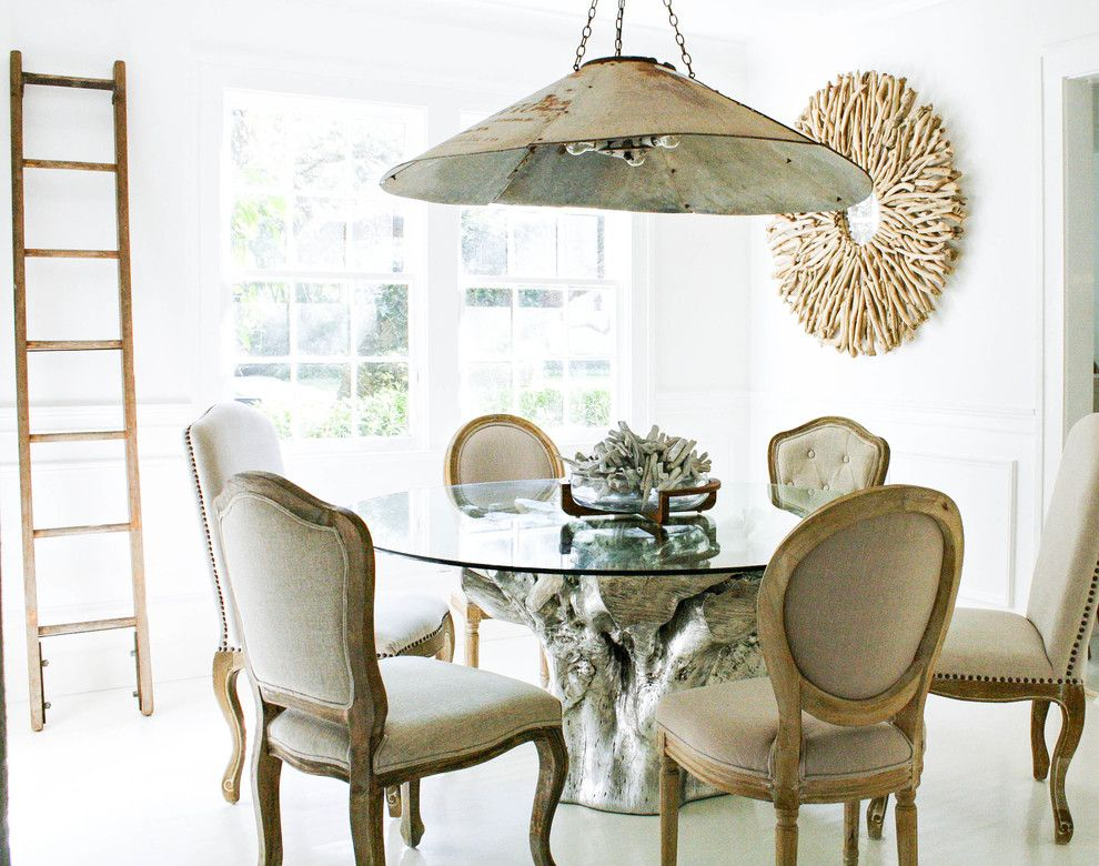 Marvelousdoublepapasanchairindiningroomeclecticwithglass Simple Eclectic Dining Room Sets Inspiration