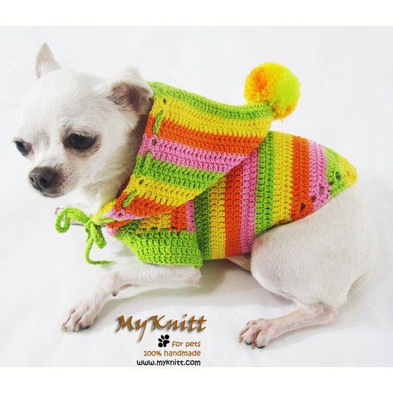 Dog Hoodie, Dog Sweater Large, Dog Clothes Small, Rasta ...