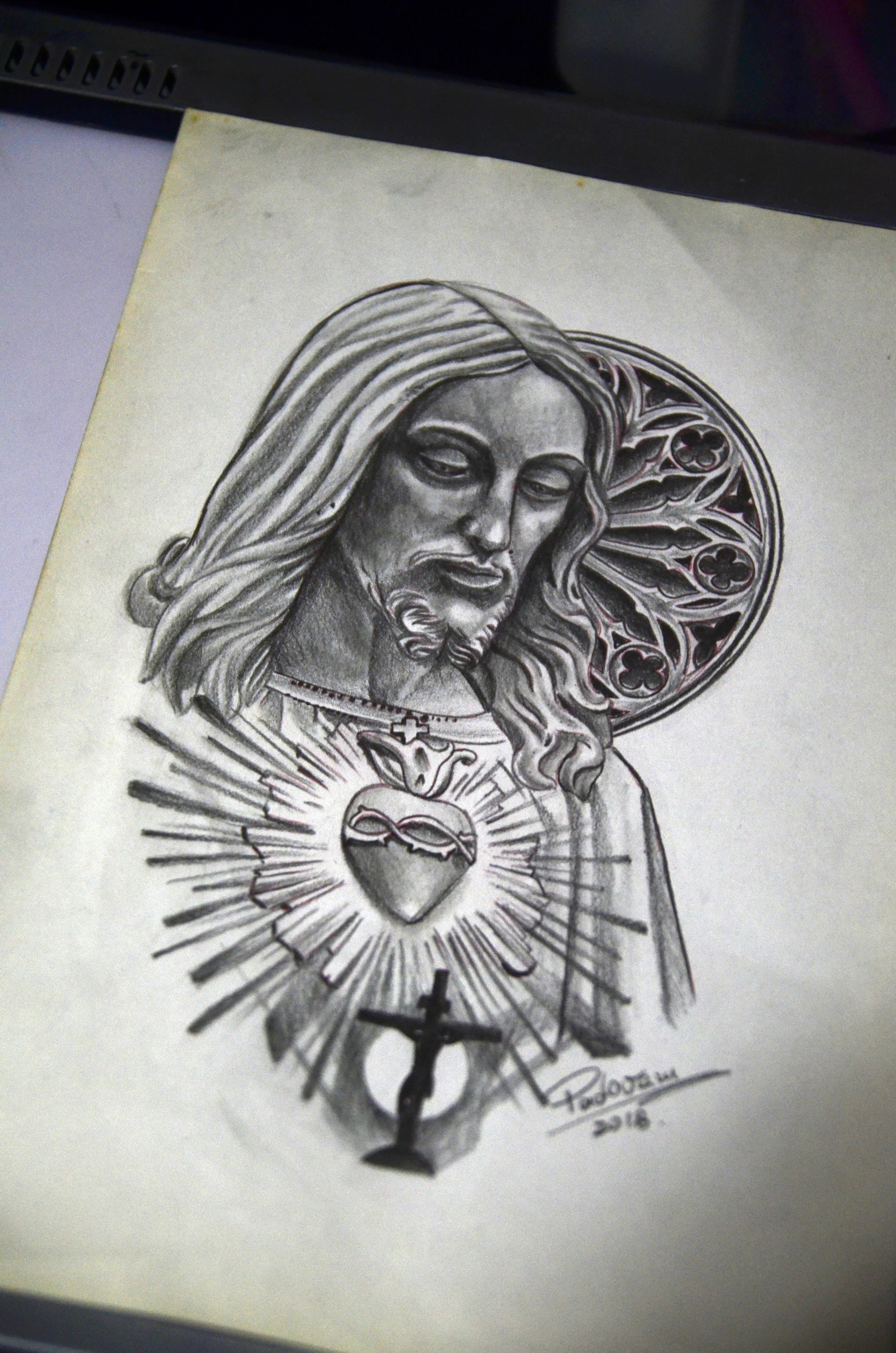 Jesus Tattoo Sketch Tatuagem Religiosa Tatuagem Desenho Jesus