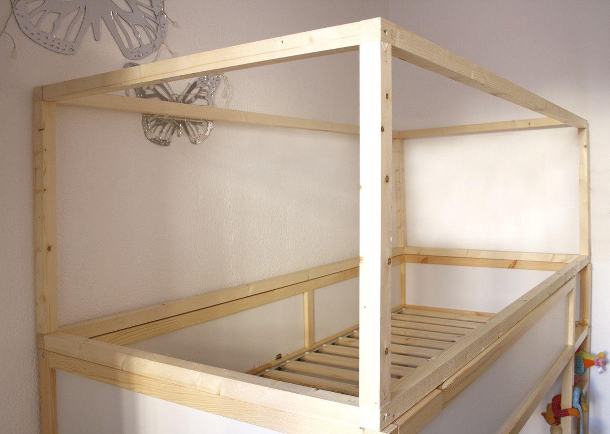 diy wood house with kura beds playroom pinterest. Black Bedroom Furniture Sets. Home Design Ideas