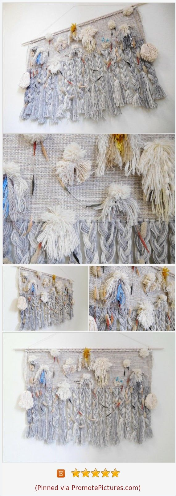 Recycled art large woven wall hanging wall weaving tapestry wall