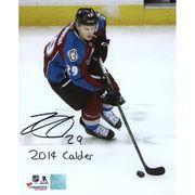 """#Shop.NHL.com - #Frameworth Autographed Colorado Avalanche Nathan MacKinnon Fanatics Authentic 8"""" x 10"""" Photograph with 2014 Calder Inscription - AdoreWe.com"""
