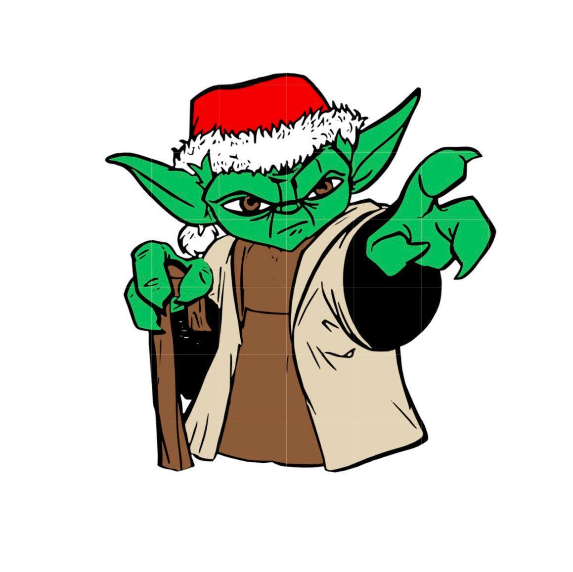 svg studio christmas star wars yoda scalable vector instant download rh pinterest com vector hd free yoda vectoriel