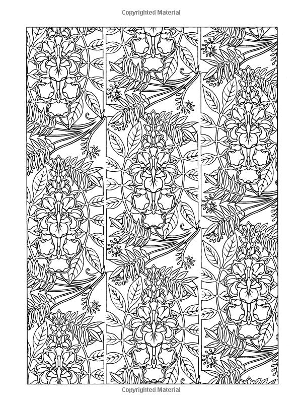 Amazon Art Nouveau Patterns Dover Design Coloring Books 9780486461984