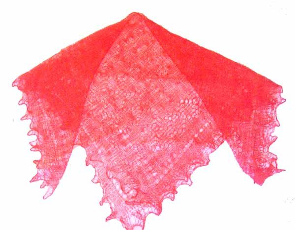 Crimson Color Scarf - Russian Crafts