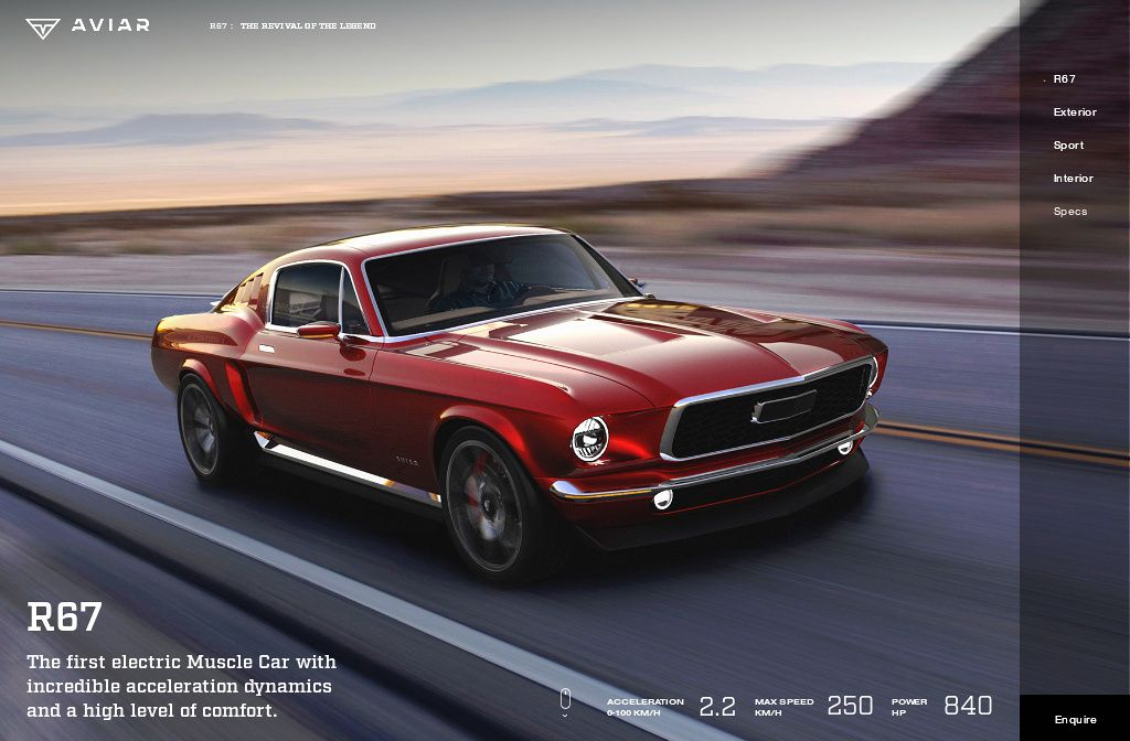 First Electric Muscle Car