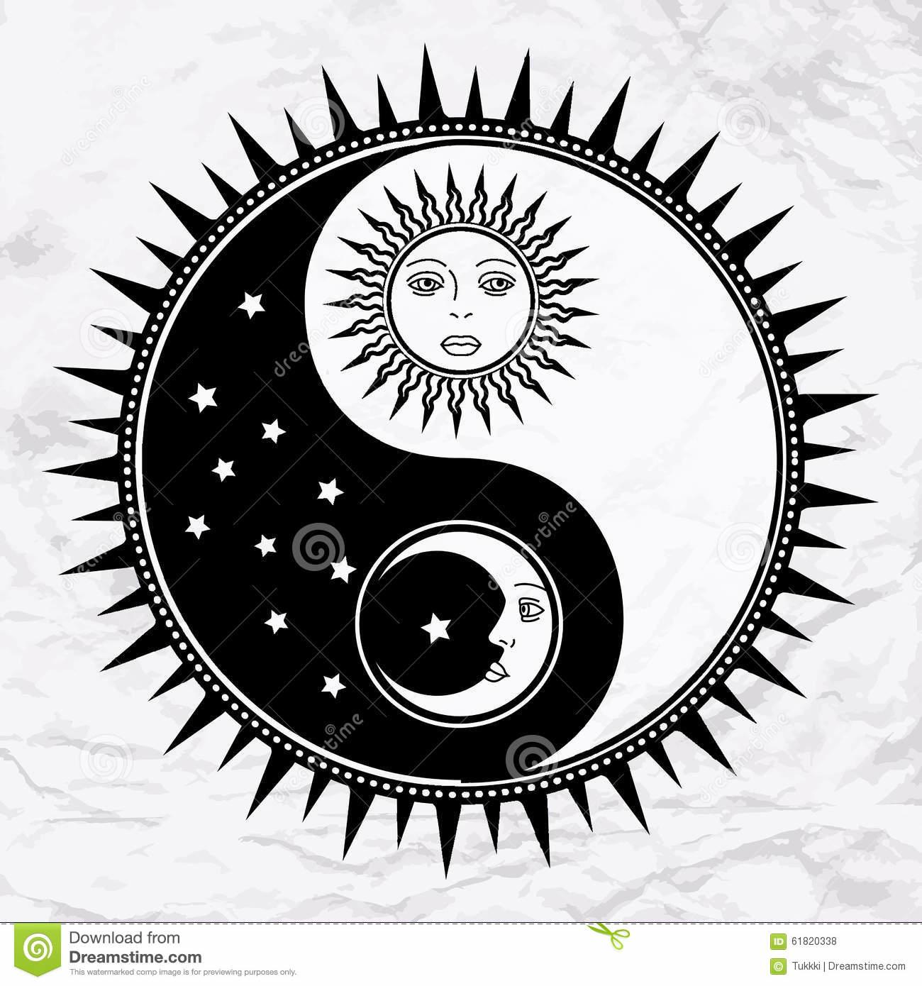 Yin Yang Sol Y Luna Tatuaje Sol Y Luna Sol Luna Y Estrellas Tatuajes De Sol