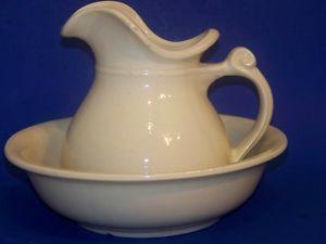 Ceramic Bowl And Pitcher Set