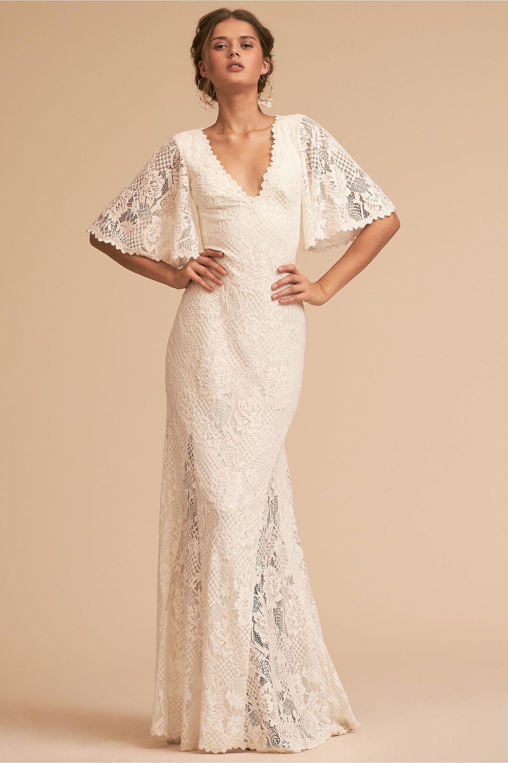 c58a71e50cd9 BHLDN's Tadashi Shoji Kieran Gown in Ivory | Products | Wedding ...
