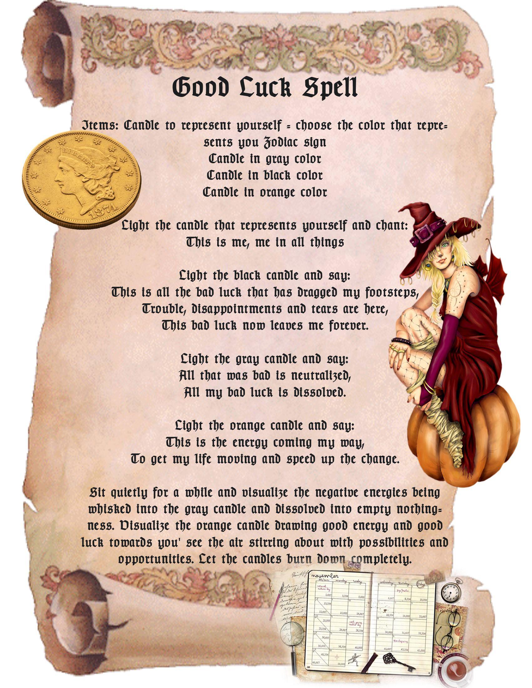 free good luck spells