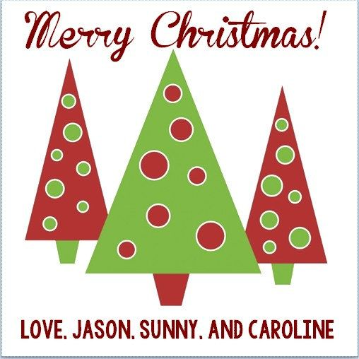 2x2 Square Christmas Tree Personalized Gift Tag 4 79 Christmas Tree Clipart Christmas Clipart Christmas Clipart Free
